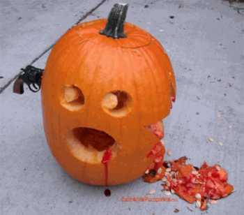 funny pumpkin carving