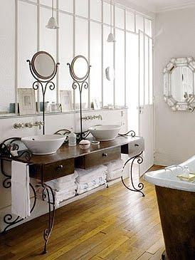 Una casa parisina ba o vintage dise o de interiores en casa for Diseno de interiores vintage