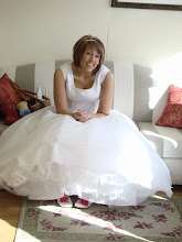 Just chillin in the wedding dress! Well part of it anyway!