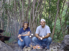Jeremy and I up the canyon roastin dogs and mallows!