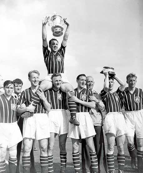 Il City vincitore in FA CUp 1956