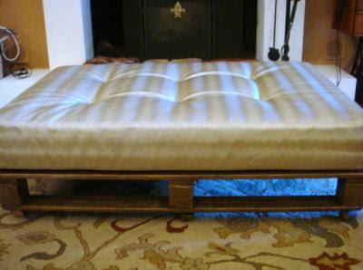 Hogar y jardin c mo hacer una cama con palets for Bases de cama hechas con tarimas