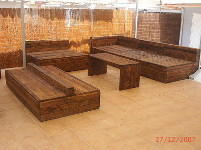 Fotos de muebles de madera reciclados muchas ideas parte for Cosas recicladas con tarimas