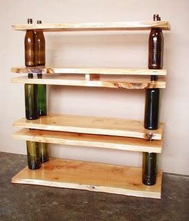 aqu vemos la combinacin del reciclaje del vidrio y de la madera