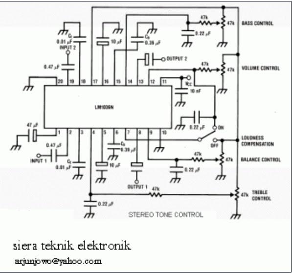 siera teknik elektronics  tone control with lm1035n