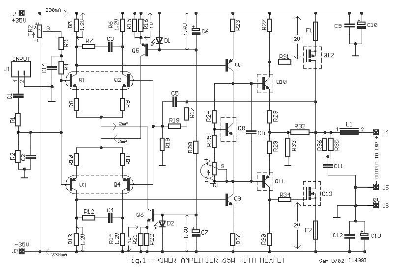 siera teknik elektronics  hexfet 65 w pa