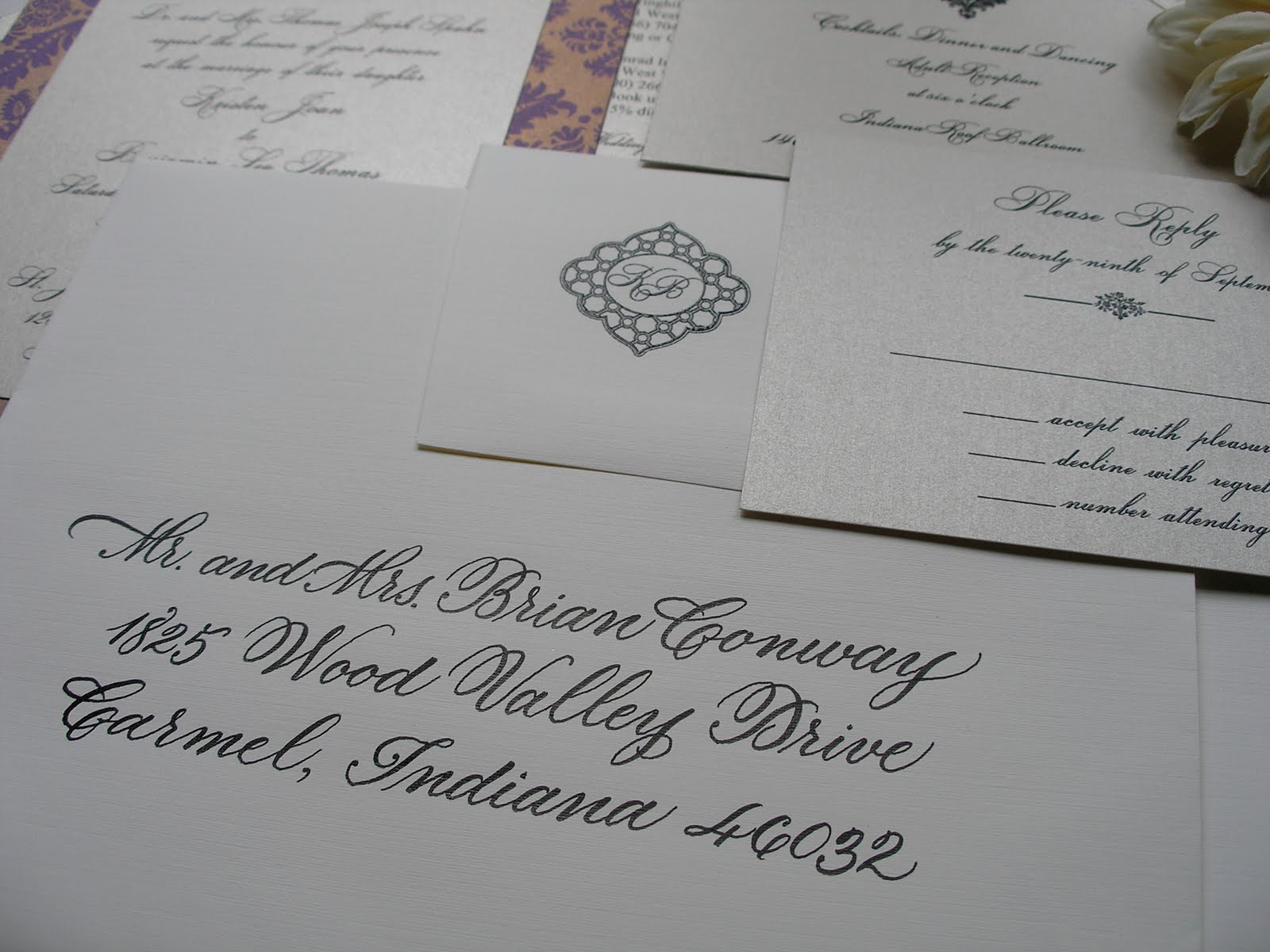 Wedding Calligraphy By Jane Farr Wedding Calligraphy