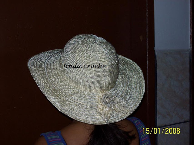 FALANDO DE CROCHET  CHAPÉUS DE CROCHÊ DA LINDAMAR - LINDAMAR S ... 86e11c59715