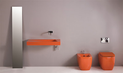 Bathroom Decorating Idea from GSC Ceramic Design - A Splash of Color