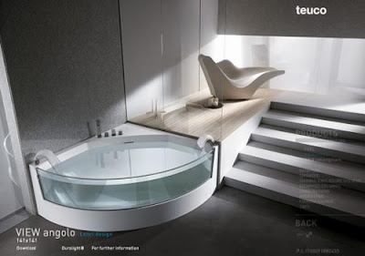 Teuco View Angolo Modern Corner Bathtub ...