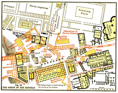 Roman Forum Map Labeled