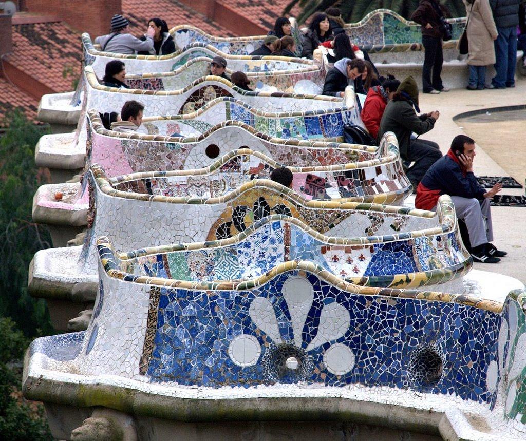 Mi moleskine arquitect nico gaud el parque g ell barcelona for Barcelona jardin gaudi