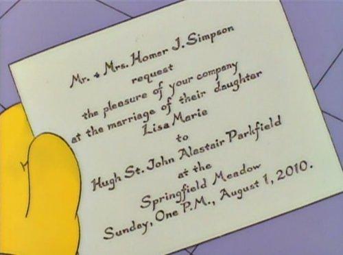 Se cancela la boda de Lisa Simpson | Sin nombre hasta que se m ocurra ...