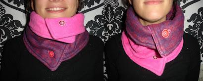 Cuello morado y fucsia doblefaz - Mayo 10