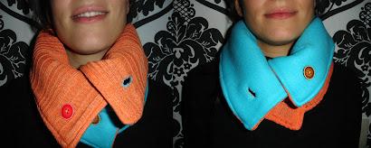 Cuello  azul y naranja doblefaz - Mayo 10