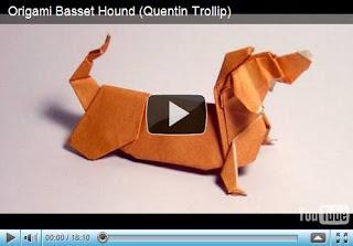 Собачка - оригами