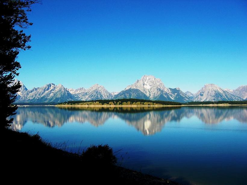 The Tetons at Jackson Lake
