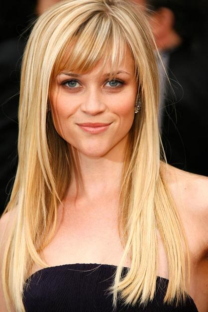 straight hairstyles with side bangs