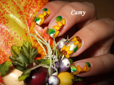 Konad Addict: The voting: Nail art contest with FALL themedany camy model