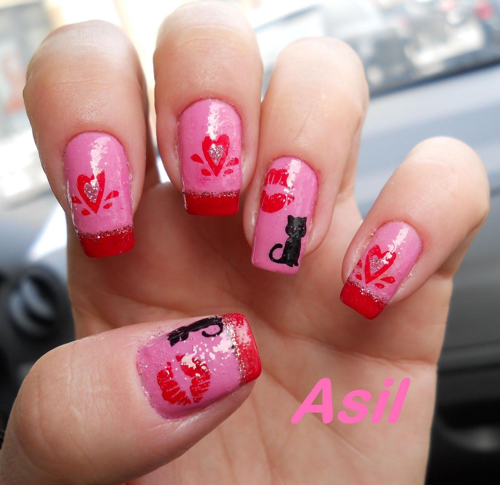 Nail Art Designs 2011: Acrylic Nail Art Designs: [CLOSED] Valentine's Day