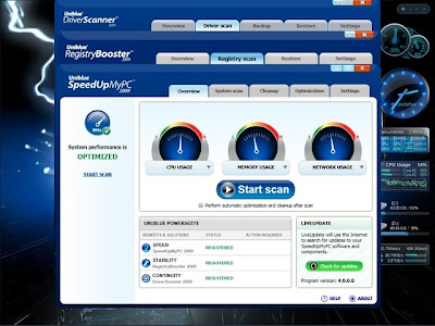 uniblue system utilities to improve pc performance and