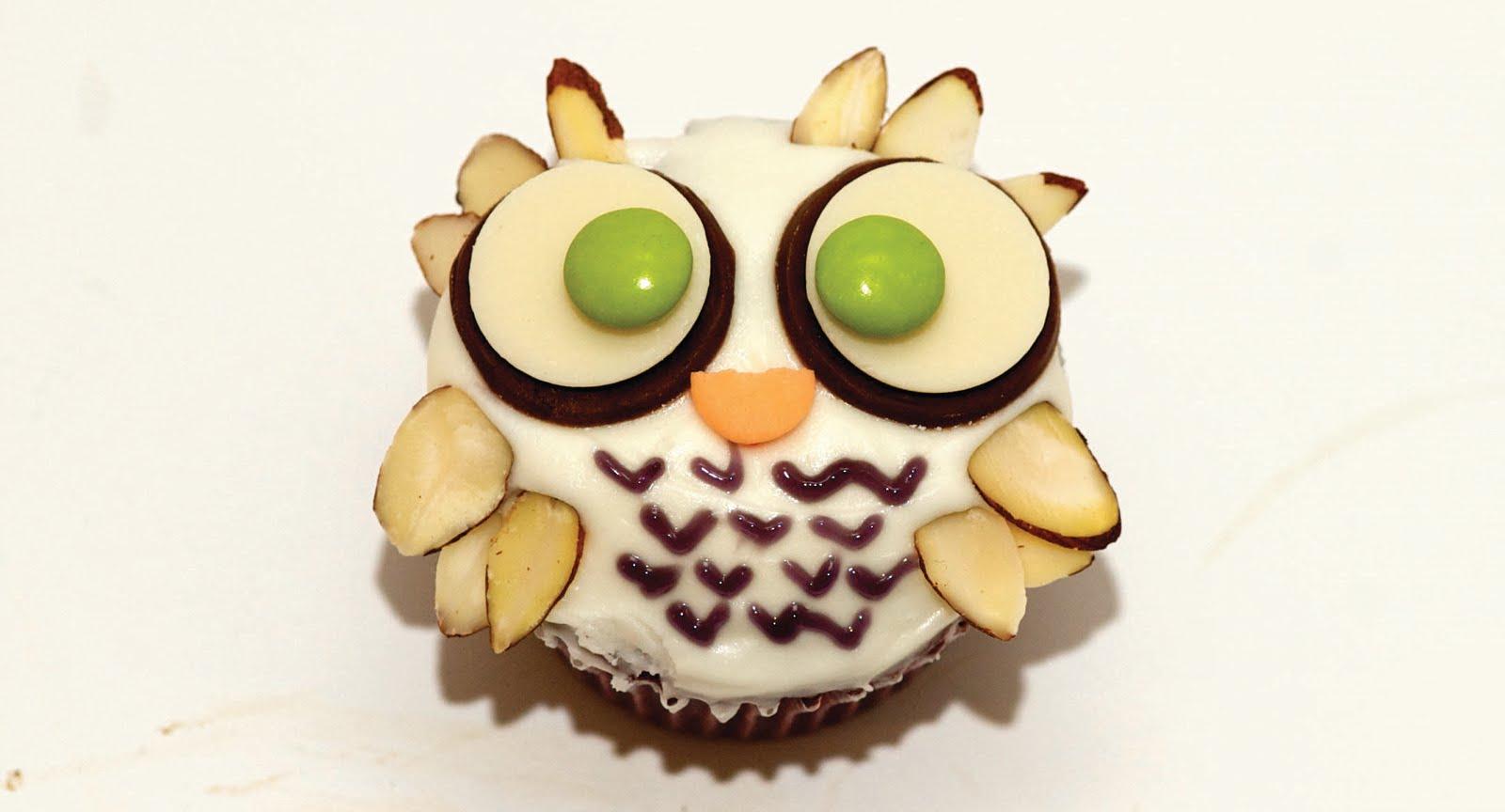 How to Make Cute Owl Cupcakes paleo recipes dessert recipes and more