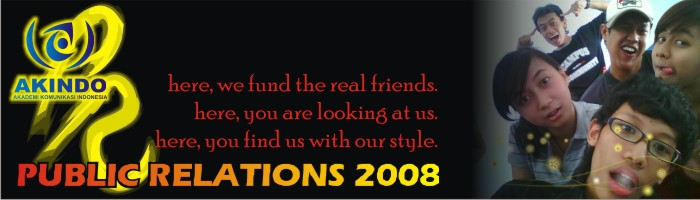 PUBLIC RELATIONS OF AKINDO 2008