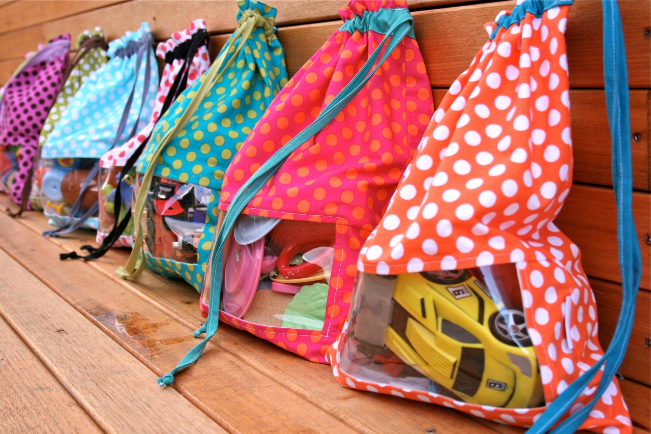 Bag Of Toys : Quot peek a boo toy sacks make it perfect
