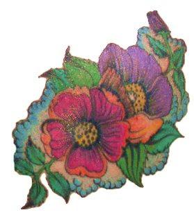 Art Flower Tattoo Design