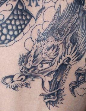 Head Dragon Tattoo Design 2
