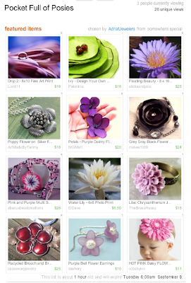 pocket full of posies handmade flowers etsy treasury