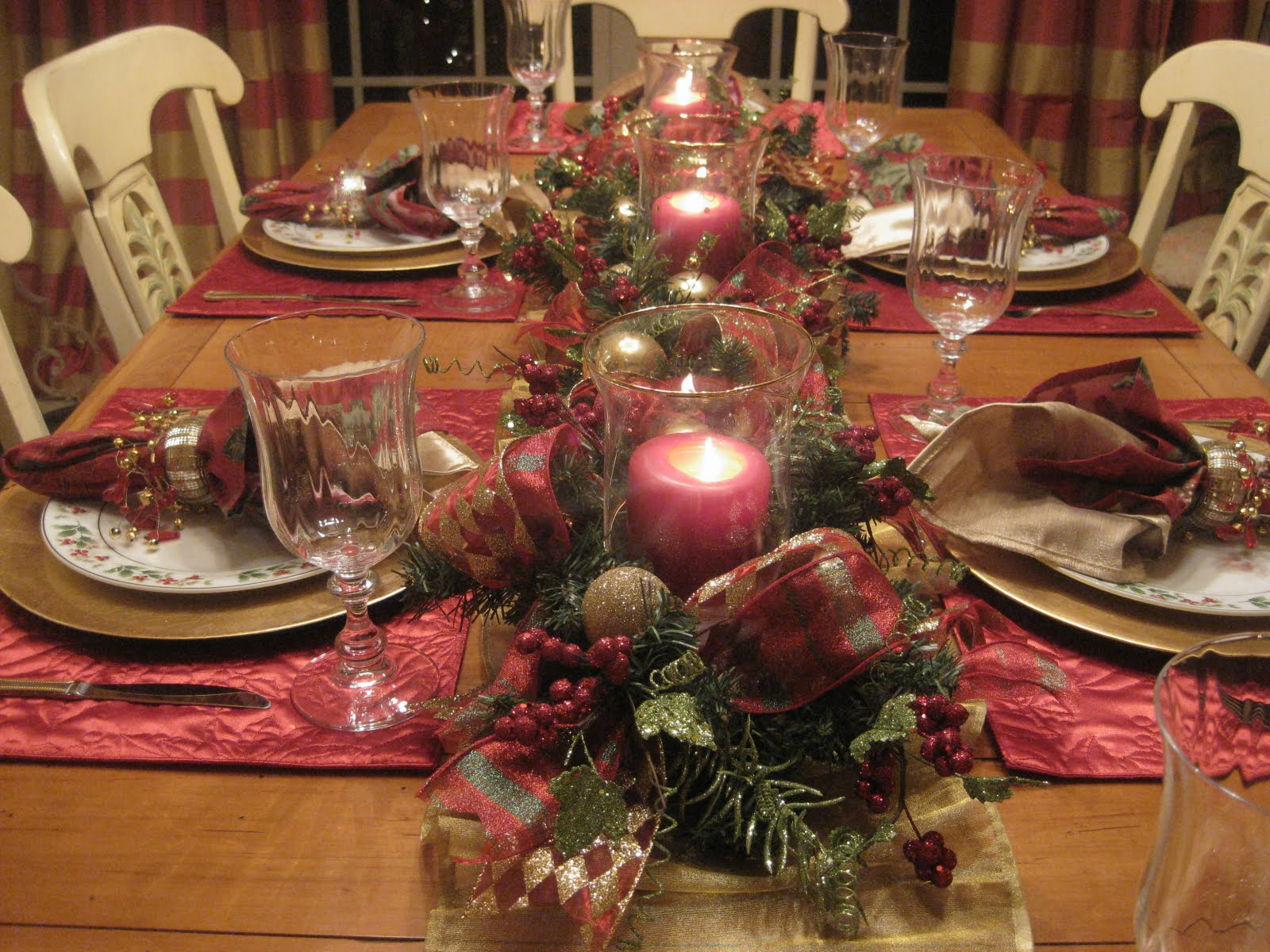 Kristen 39 S Creations Christmas Day Tablescapes