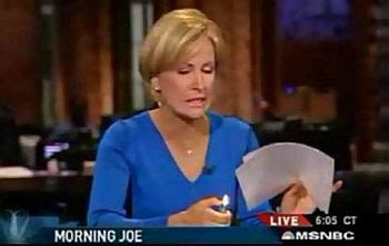 Mika Brzezinski: journalistic fluff - a burning issue?