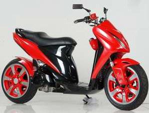 Suzuki Spin 125 Red Low Rider Modified