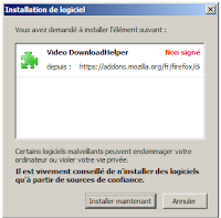 installer addon Video Download Helper
