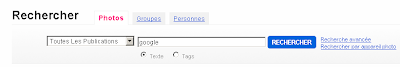 Flickr recherche avancee