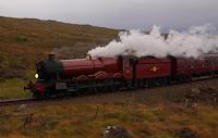 Veja fotos das filmagens com o Expresso de Hogwarts em 'Harry Potter e as Relíquias da Morte'