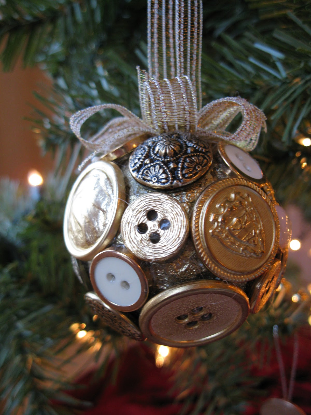 All things andrea button christmas ornaments