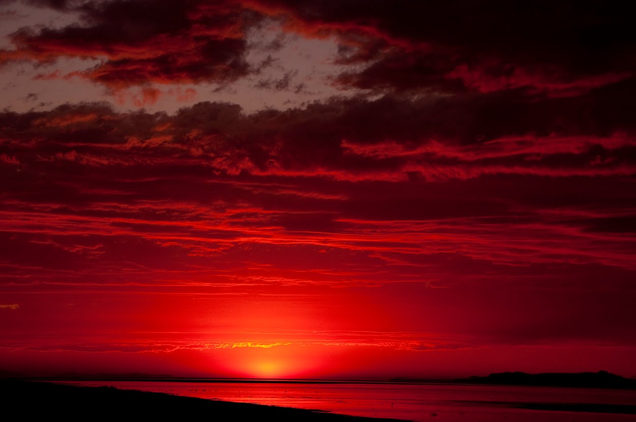 Antelope Reflections: Violent as the red sky