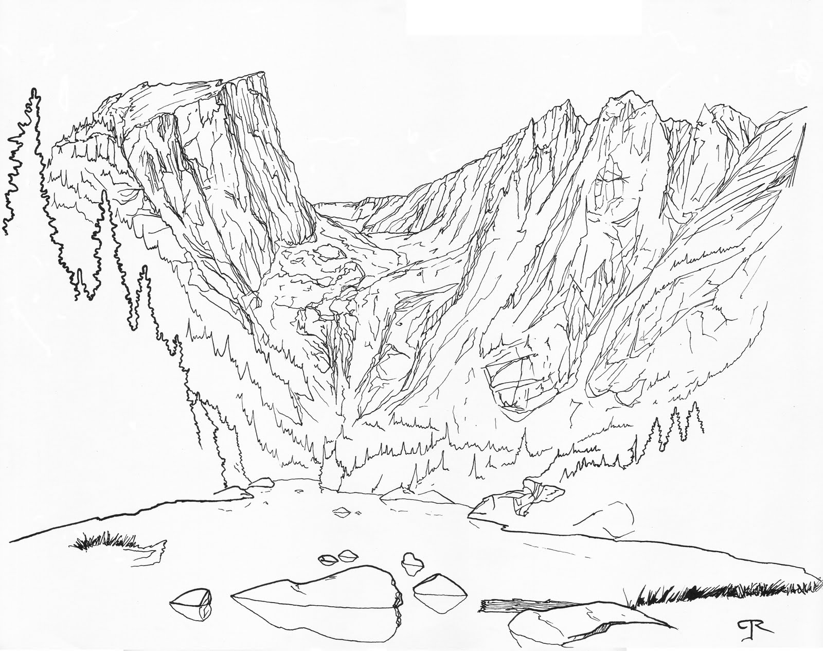 Line Art Mountain : Rom e mpire rocky mountain national park yet more