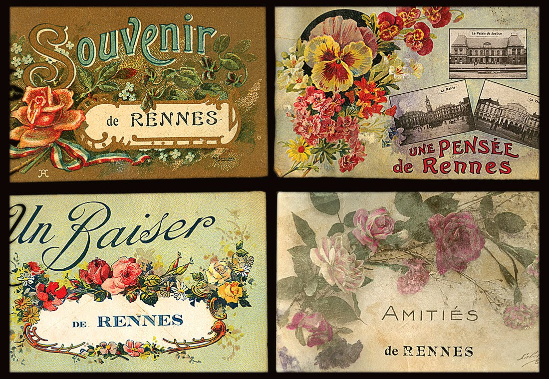 casey/artandcolour: WW1era Postcard Details: Illustrated Fleurs