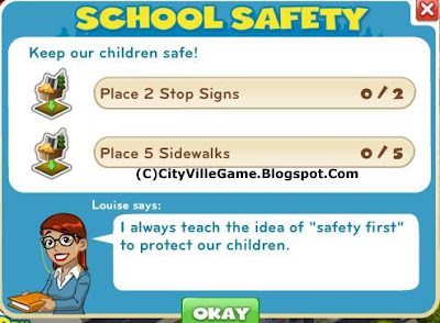 Cityville zynga social game mission school safety