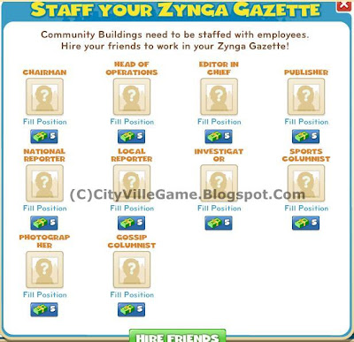 pictures of zynga gazette & hoe to complete the task