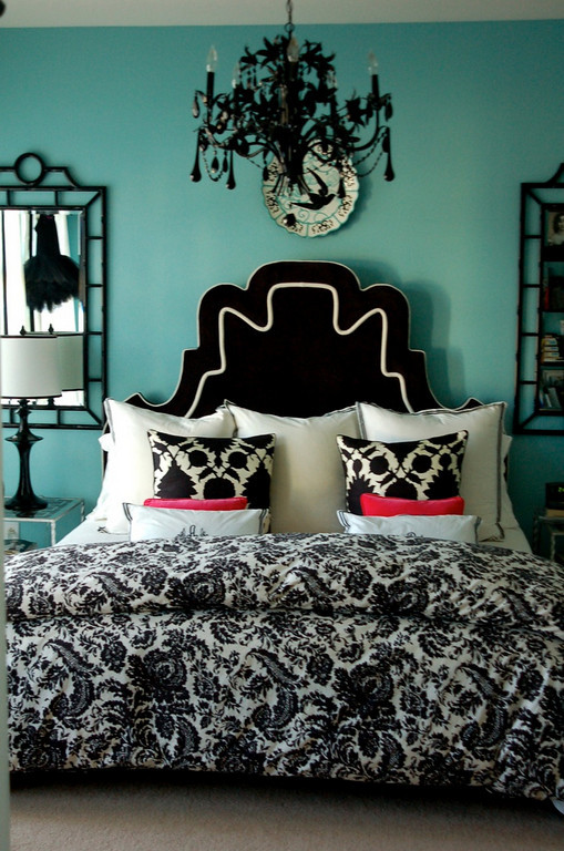 Impressive Black White and Turquoise Bedroom 509 x 768 · 146 kB · jpeg