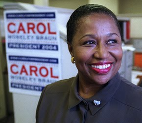 carol moseley braun african american studies Organizing a new collection of materials from carol moseley braun, the first african-american woman elected  scholars explore african-american archives in.