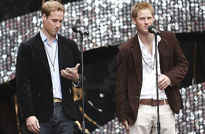 príncipes Harry y William