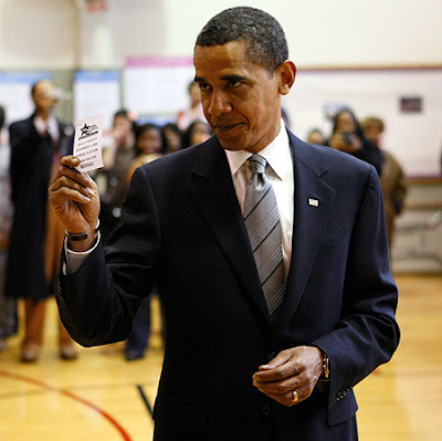 Obama vota en el sur de Chicago