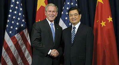 George Bush y Hu Jintao