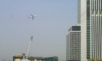 El avión presidencial que asustó a los neoyorkinos