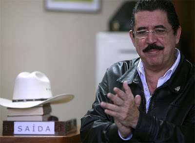 derrocado presidente Zelaya de Honduras